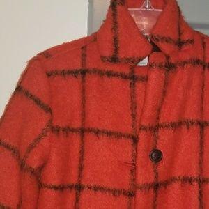 Girl's Plaid Pea Coat